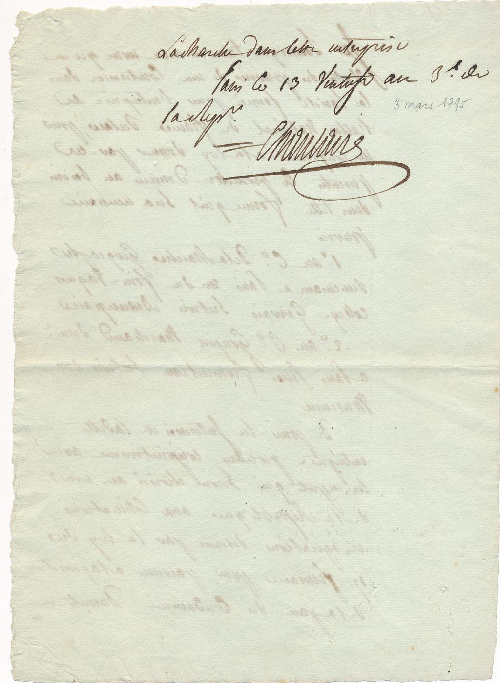 Pierre-Gilles CHANLAIRE (1758-1817) géographe Atlas national révolution signature