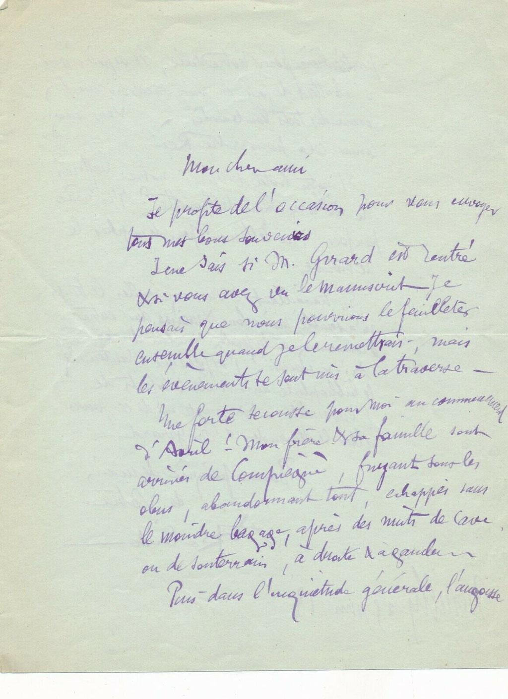 Albert Robida lettre autographe signée