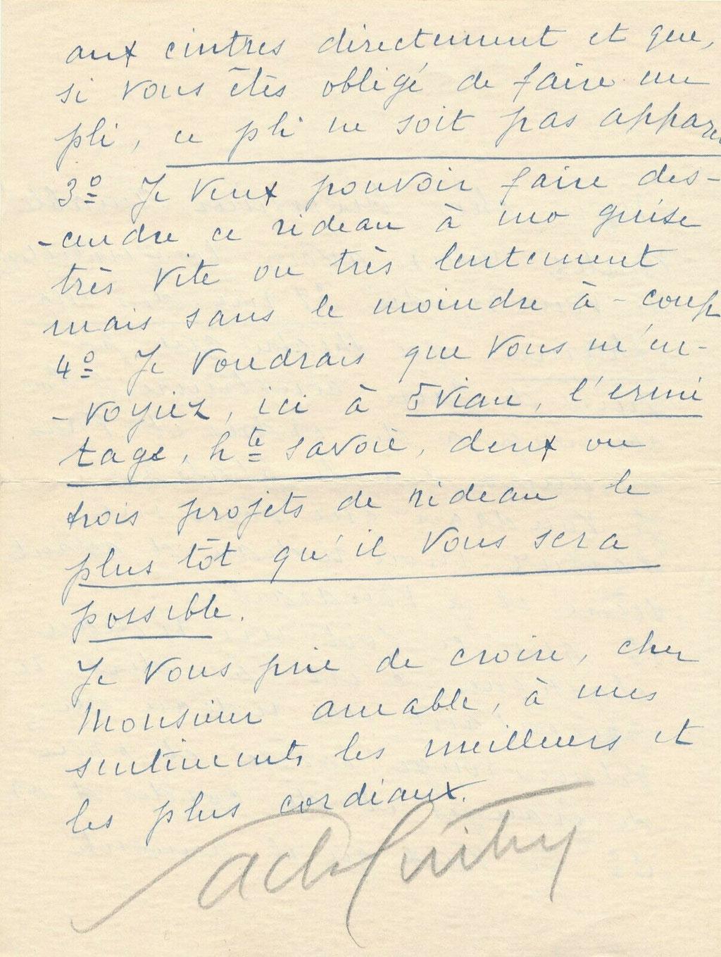 Sacha Guitry lettre autographe signée