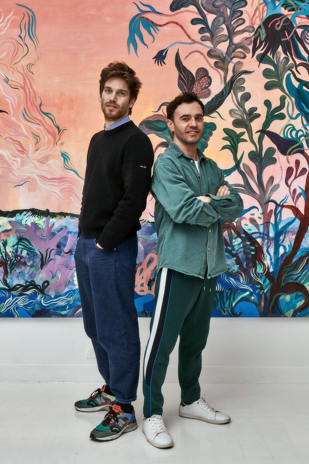 Nicolas Veidig-Favarel, Galeriste et Florent Groc, Artiste © Jeanchristophe Lett