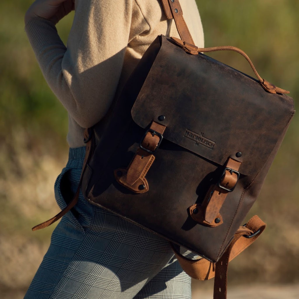 Margelisch, sustainable backpack, leatherbag