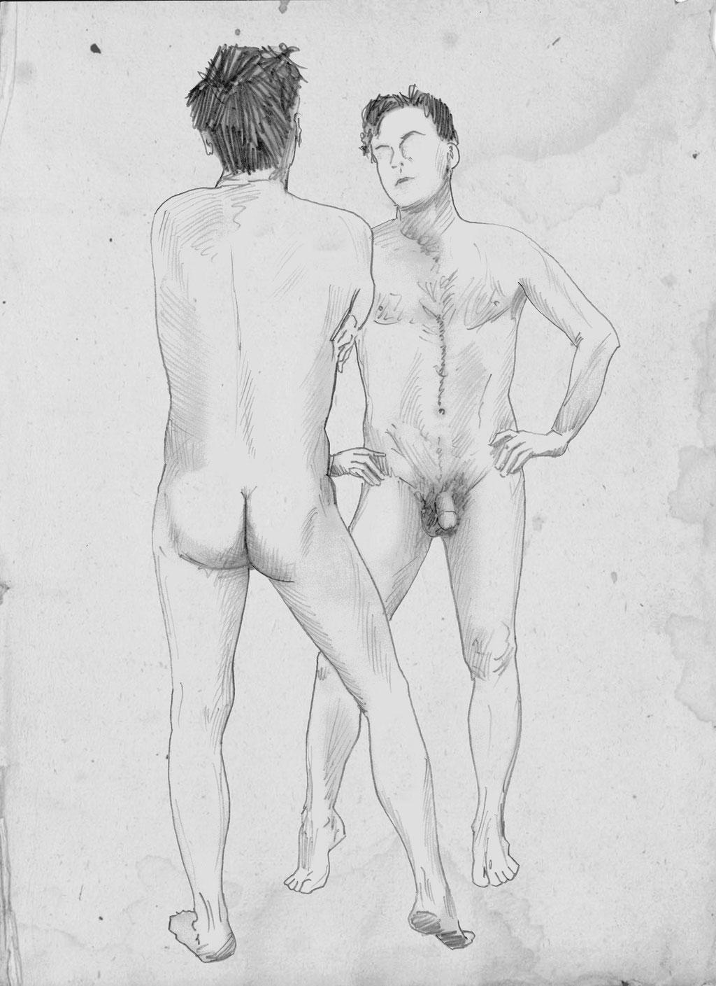 Skizze, Nachdenken über mich selbst, 2013