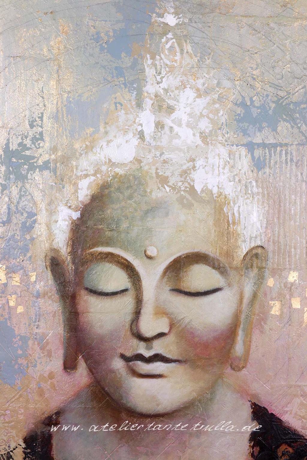 Buddhakopf Gemaelde