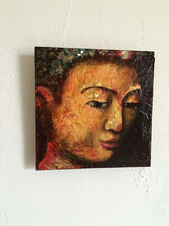 kleines Buddha Original Gemälde