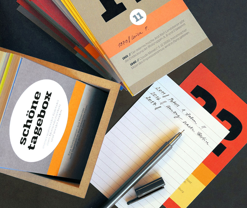 schönetagebox – Kombination aus Tagebuch und Kalender