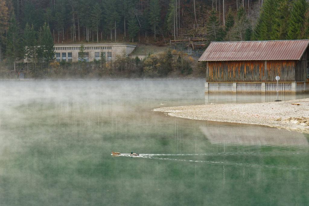 Walchensee mit Kraftwerk