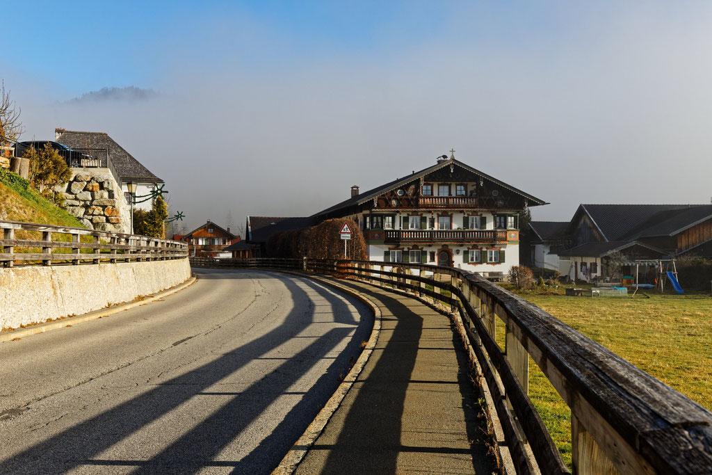 Wallgau (Nebel im Rücken)
