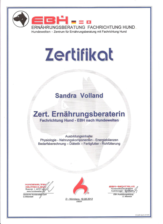 Zertifizierte Ernährungsberaterin für Hunde Sandra Volland Nürnberg