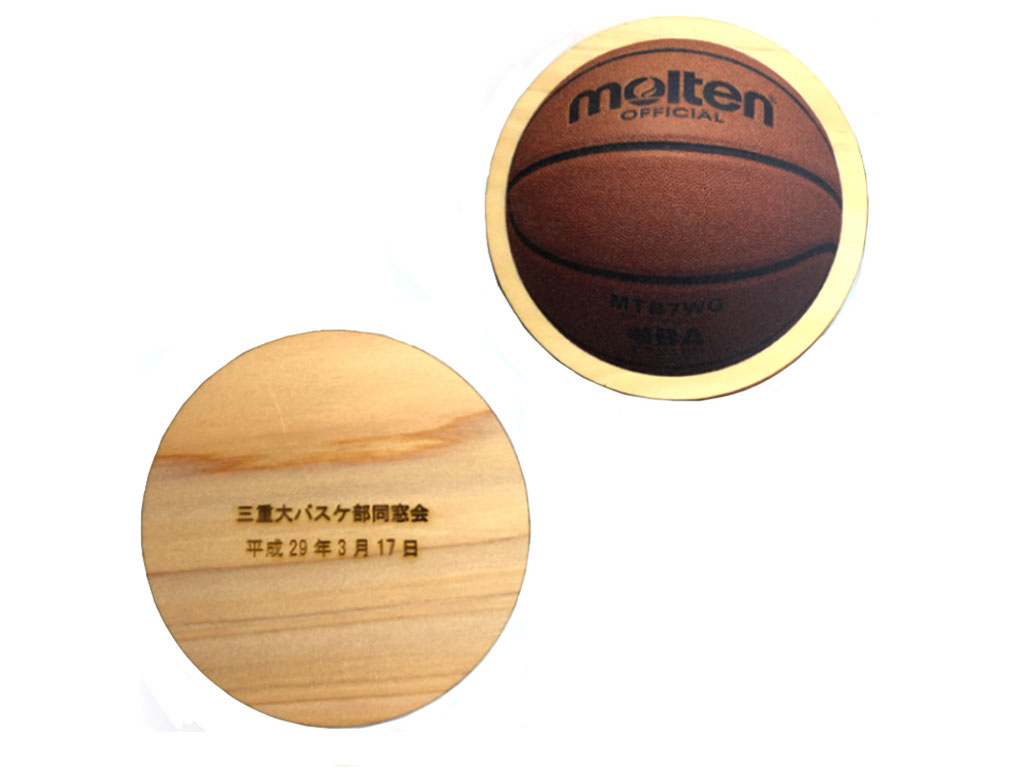 オリジナル 木製コースター 大会記念品