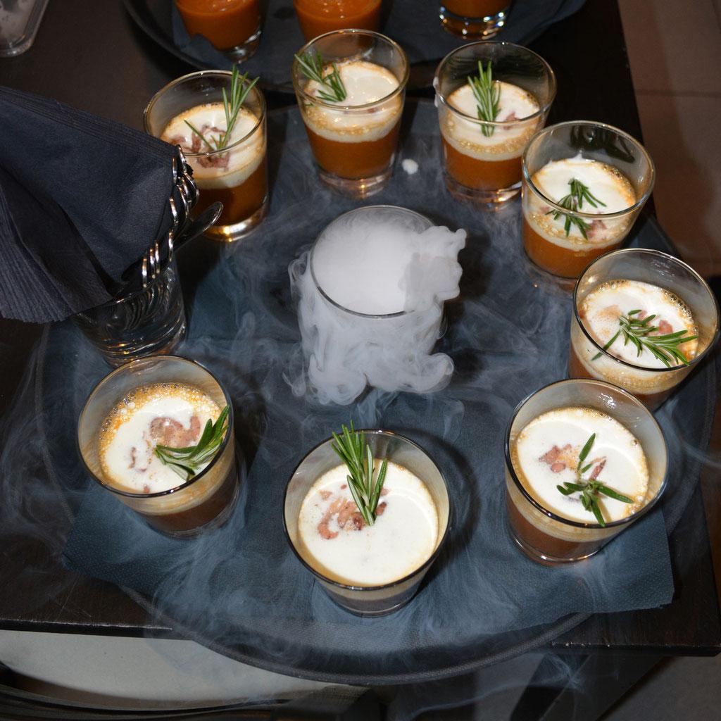 Bisque van grijze garnalen