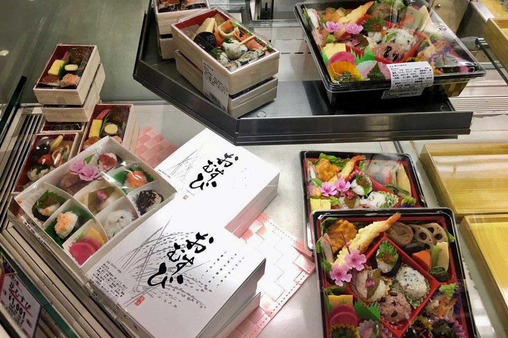 Bento Boxen wie Schmuck-Schatullen, Isetan Food Hall Shinjuku Tokio