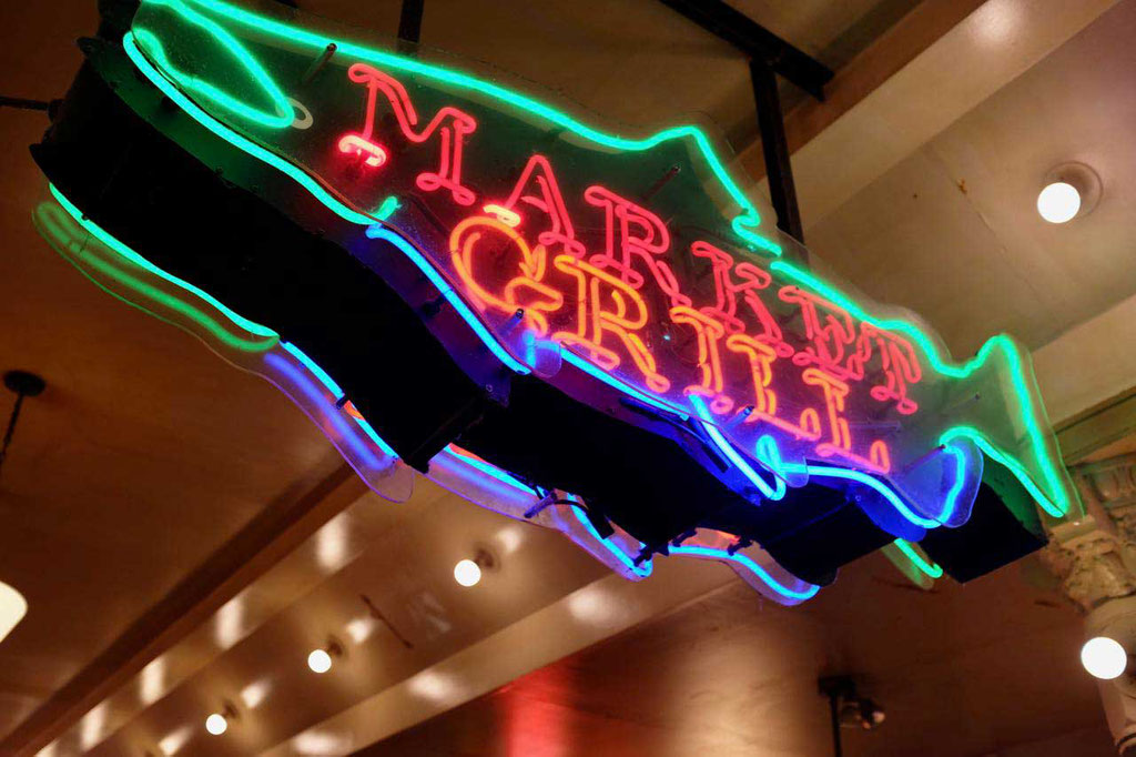 Market Grill Schild, Pike Place Market Seattle