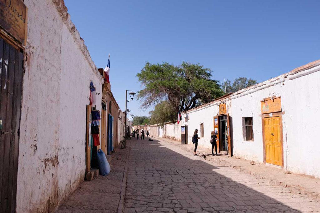 Strasse in San Pedro de Atacama
