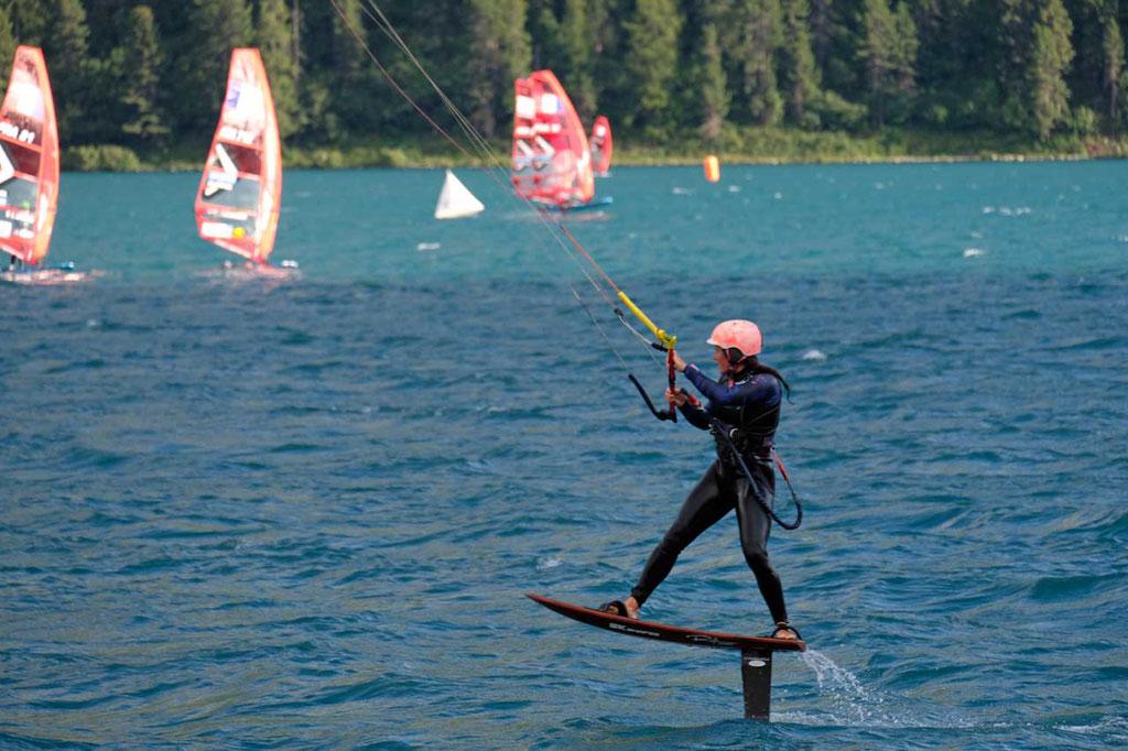 Foil Surfen Engadinwind St. Moritz Silvaplanersee