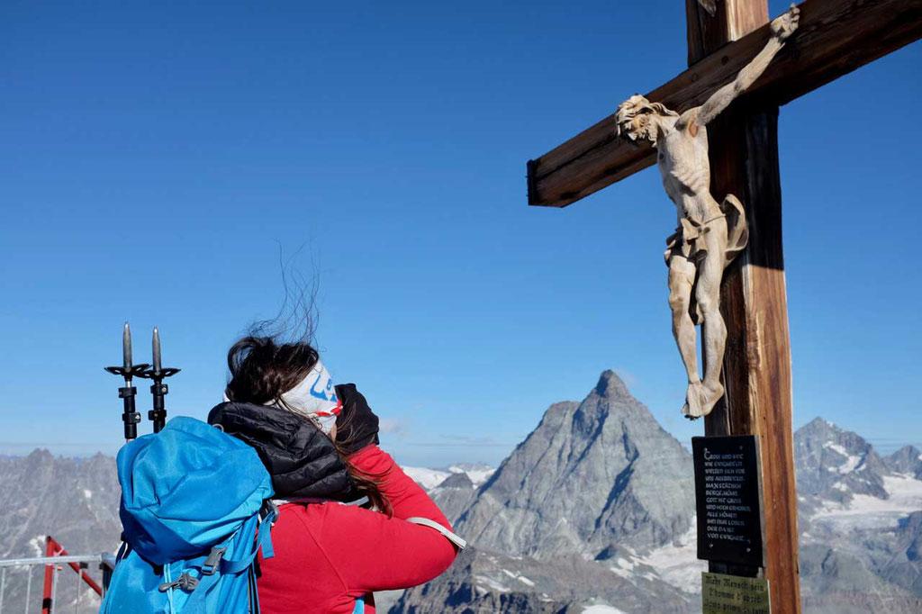 Kreuz auf dem Klein Matterhorn