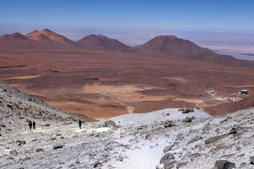 Viel schneller ist der Abstieg vom  Toco Gipfel