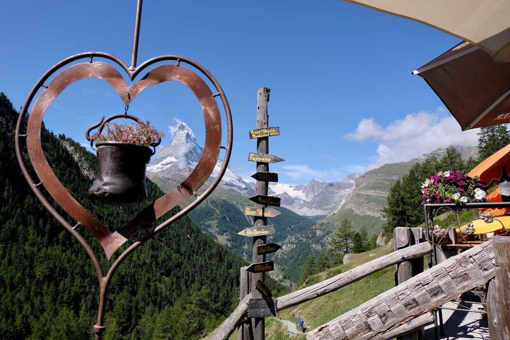 Auf dem Gourmetweg Zermatt