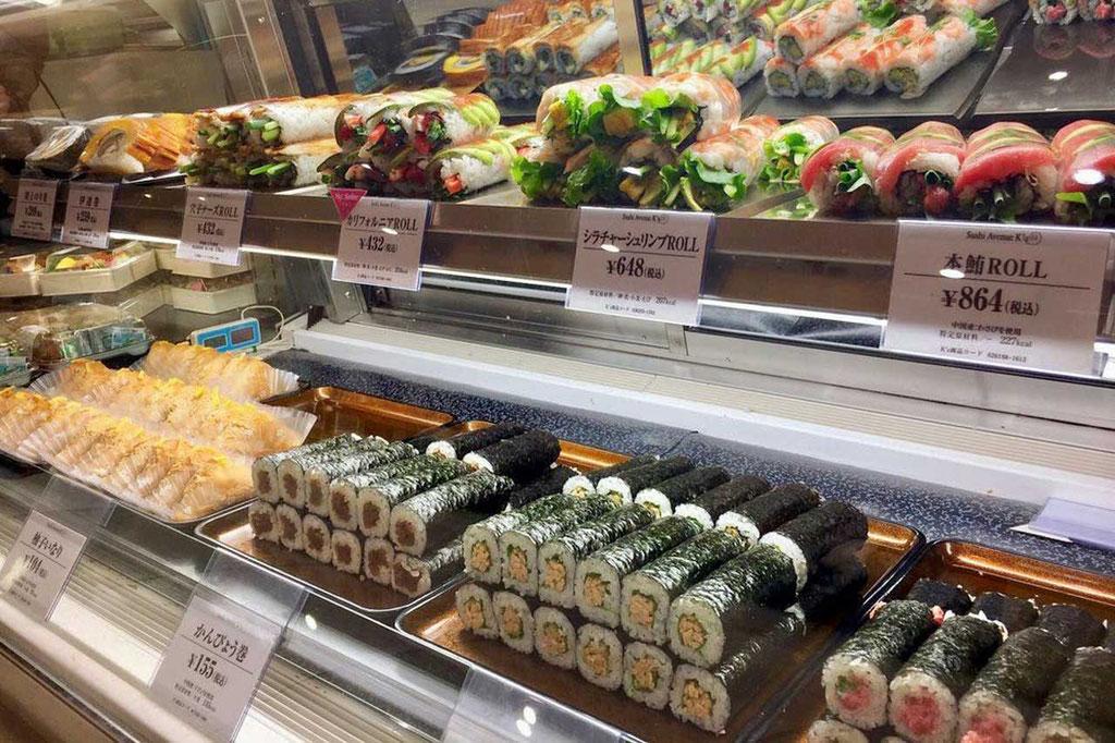 Sushi to go. Beste Food Hall in Tokio, ISETAN Shinjuku