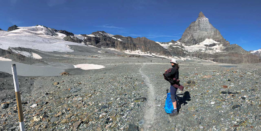 Auf dem Matterhorn Glacier Trail Zermatt