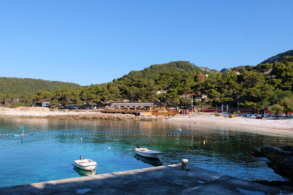 Milna Strand und Campingplatz