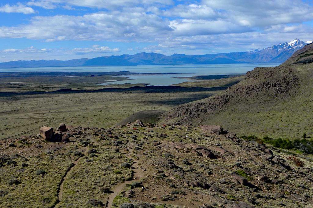 Blick auf den Viedma See am Mirador de los Aguilas El Chaltén