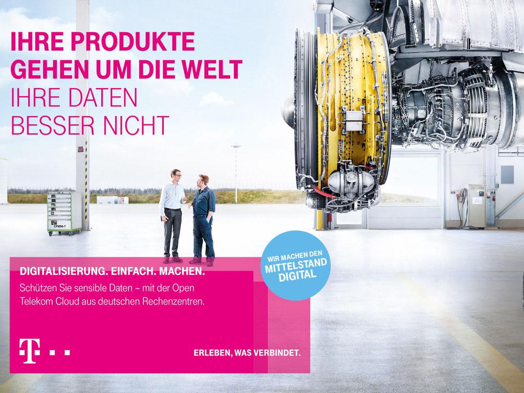 Beispiel für Telekom-Print anno 2017.