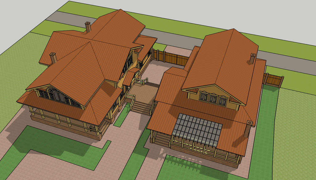 городской деревянный дом