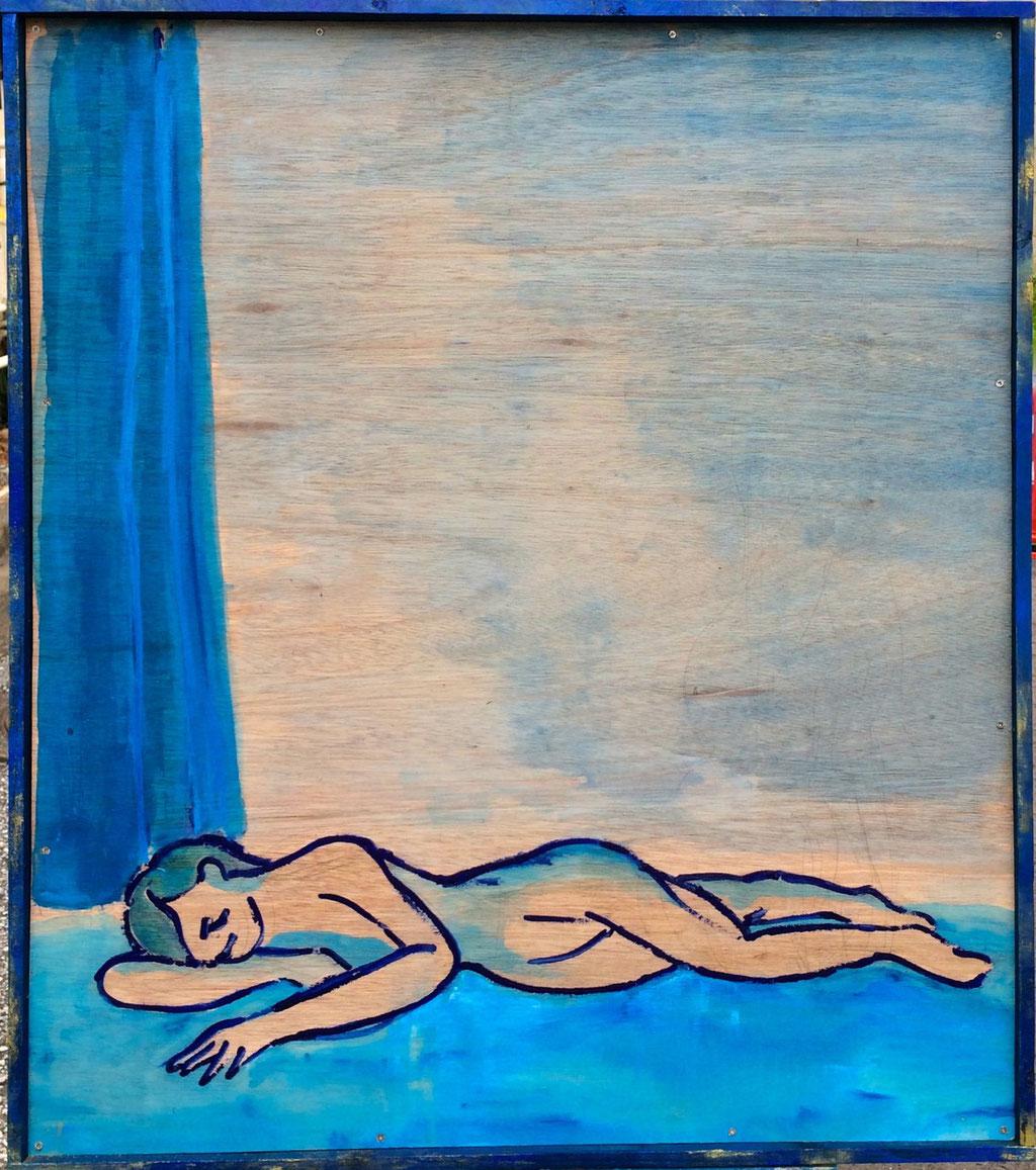 「眠る女」/2014 750×850×30(¥75,000)