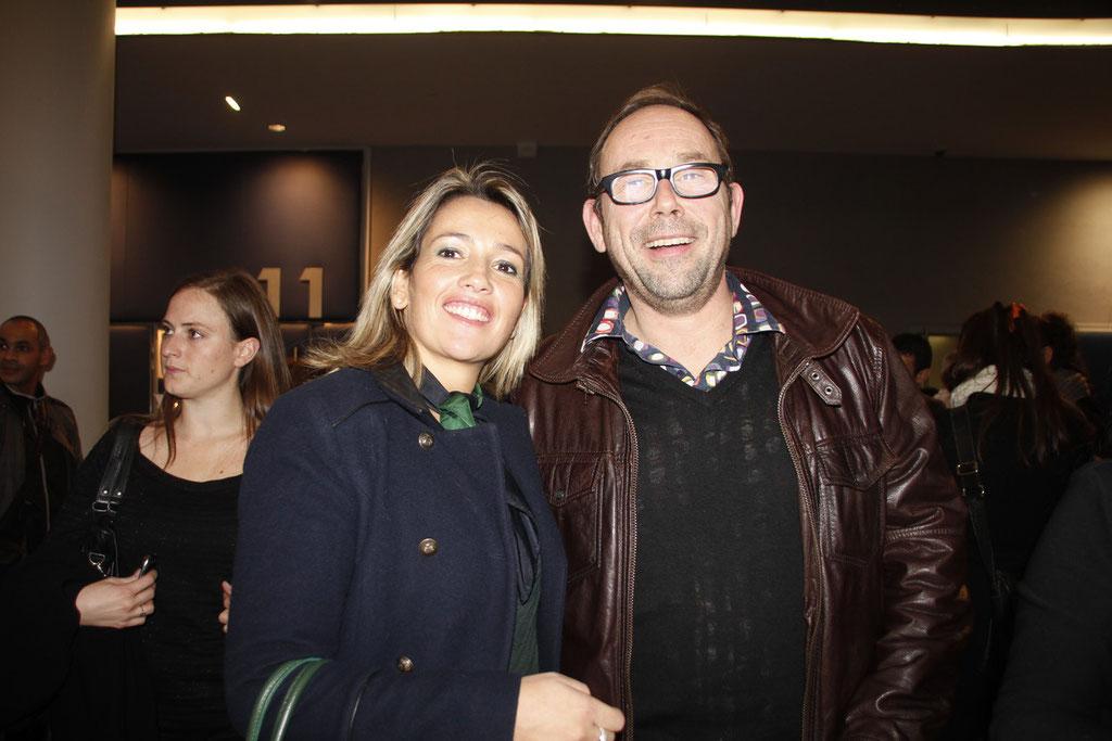 """Soraya Benballa et Olivier Gourmet, lors de l'avant-Première du film """"La Marche""""  Lyon - 5 Novembre 2013 - Photo © Anik COUBLE"""