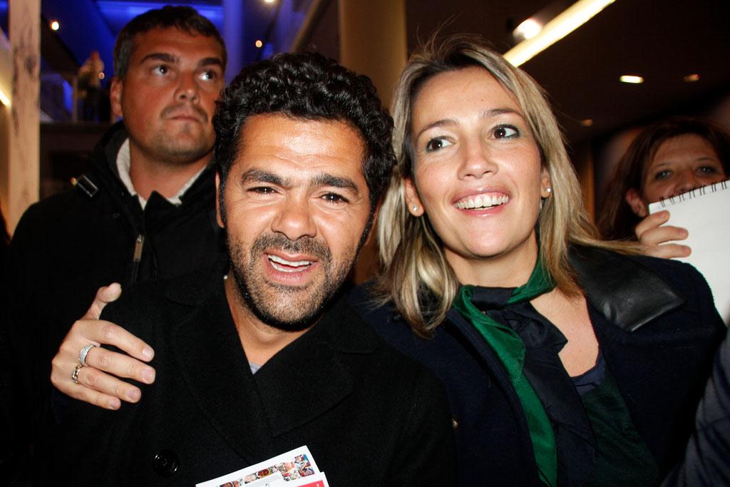 """Jamel Debbouze et Soraya Benballa, lors de l'avant-Première du film """"La Marche""""  Lyon - 5 Novembre 2013 - Photo © Anik COUBLE"""