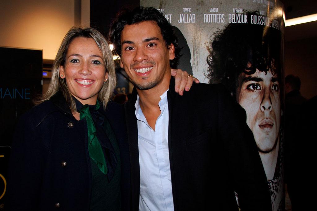 """Tewfik Jallab et Soraya Benballa, lors de l'avant-Première du film """"La Marche""""  Lyon - 5 Novembre 2013 - Photo © Anik COUBLE"""