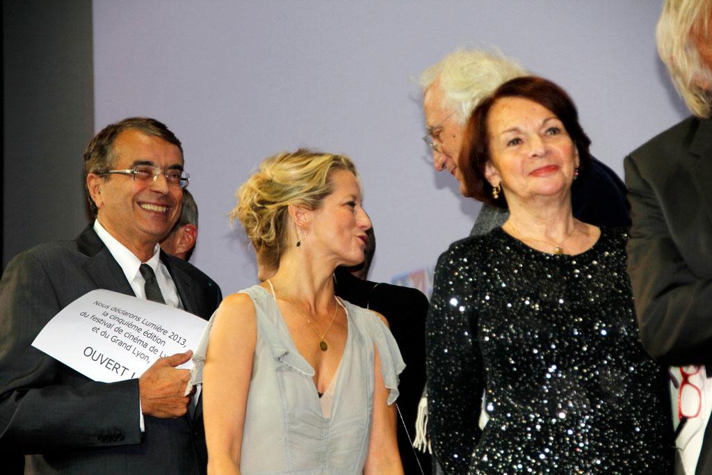 Jean-Jack QUEYRANNE  et  les invités du Festival Lumière 2013  - Photo © Anik COUBLE