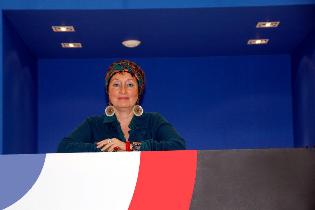 """Muriel Pernin, Présidente-fondatrice  des  """"Atelières"""" - Villeurbanne - Février 2013 © Anik COUBLE"""