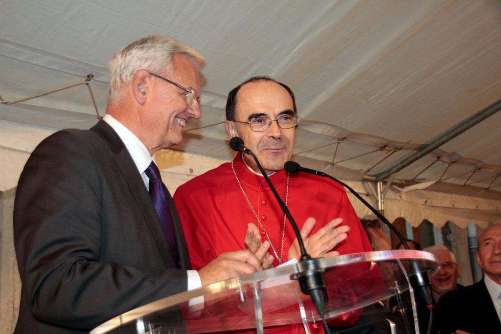 Le Cardinal Philippe Barbarin, archevêque de Lyon, lors du renouvellement du vœu des Echevins - Musée de Fourvière - Lyon - 08 Sept 2013 © Anik COUBLE
