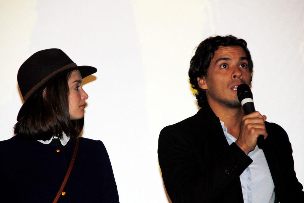 """Charlotte Le Bon et Tewfik Jallab, lors de l'avant-Première du film """"La Marche""""  Lyon - 5 Novembre 2013 - Photo © Anik COUBLE"""
