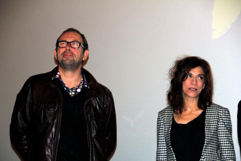 """Olivier Gourmet et Lubna Azabal, lors de l'avant-Première du film """"La Marche""""  Lyon - 5 Novembre 2013 - Photo © Anik COUBLE"""