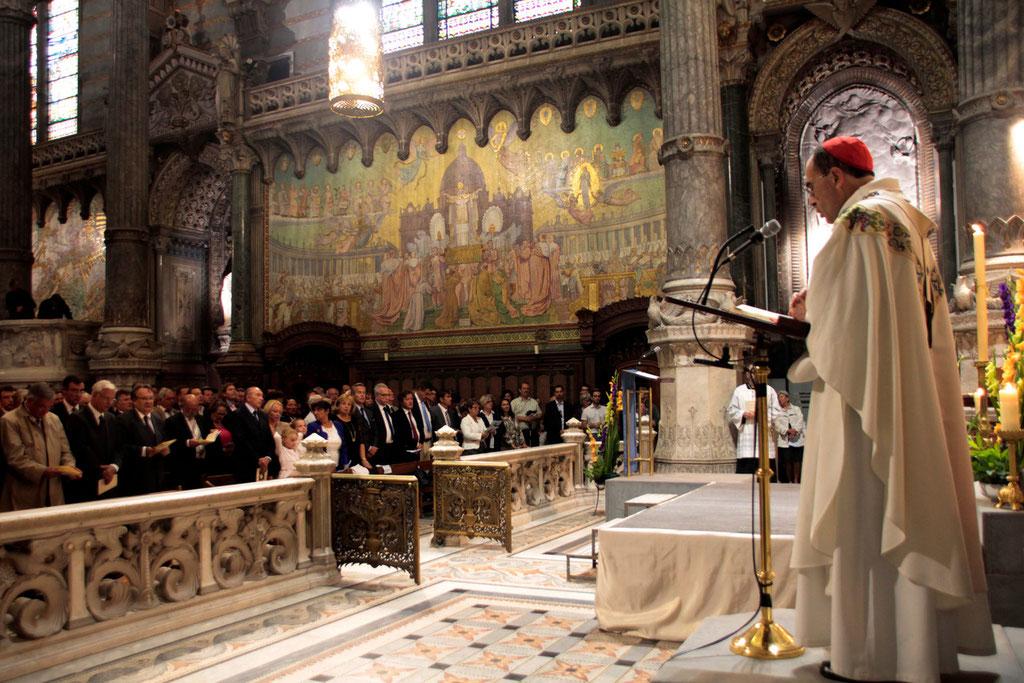 Vœu des Echevins - Basilique de Fourvière - Lyon - 08 Sept 2013  © Anik COUBLE