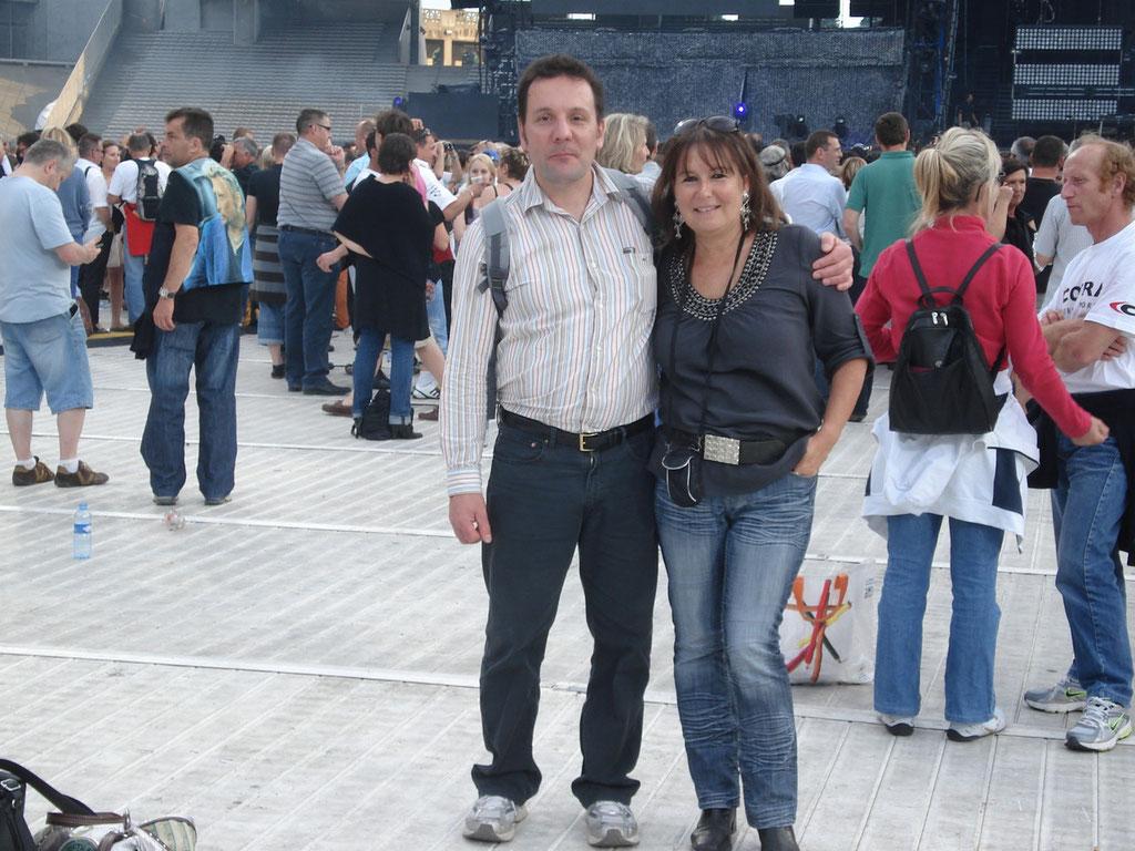 Hugues Legris et Anik Couble - Concert Johnny Hallyday - Lyon - Juin 2012 © Anik COUBLE