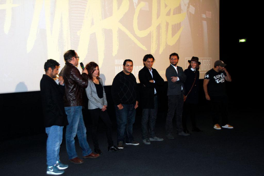 """Toute l'équipe du film """"La Marche"""" lors de l'avant-Première à Lyon le 5 Novembre 2013 - Photo © Anik COUBLE"""