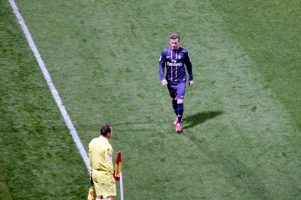 David Beckham, lors du match OL - PSG - Lyon - Gerland - Mai 2013  © Anik COUBLE