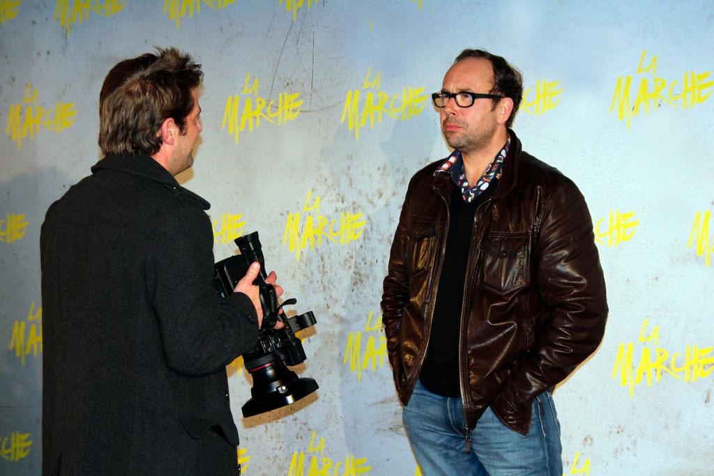 """Olivier Gourmet en interview, lors de l'avant-Première du film """"La Marche""""  Lyon - 5 Novembre 2013 - Photo © Anik COUBLE"""