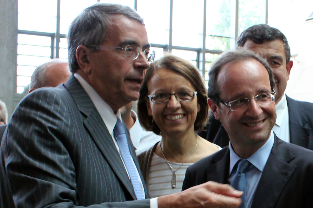 Jean-Jack QUEYRANNE et François HOLLANDE - Lyon - 2011 - Photo © Anik COUBLE