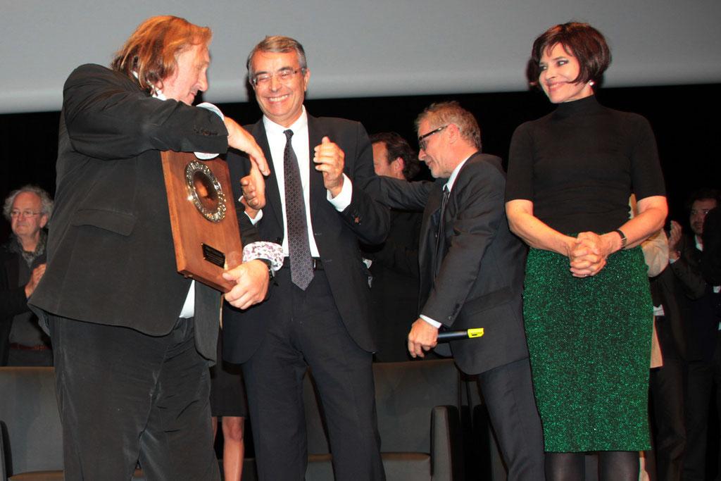 Jean-Jack QUEYRANNE, Gérard DEPARDIEU et Fanny ARDANT-  2011 / Photo : Anik Couble