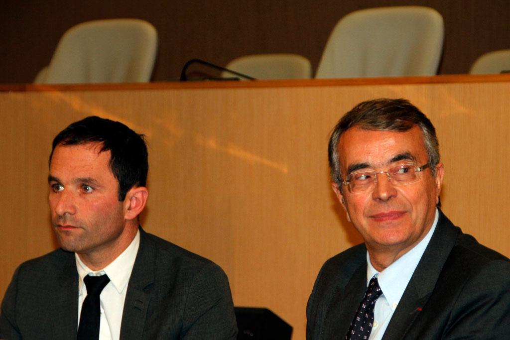 Jean-Jack QUEYRANNE et Benoît HAMON - Lyon - 2013 - Photo © Anik COUBLE