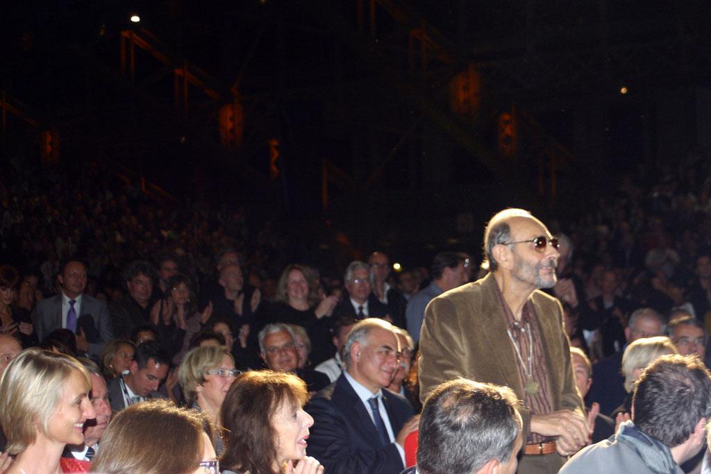 Stanley Donen  au milieu du public - Cérémonie d'ouverture du Festival Lumière - Lyon - Oct 2010 - Photo © Anik COUBLE