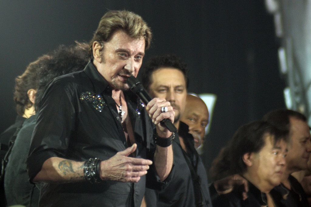 Johnny Hallyday - Lyon - Octobre 2009 © Anik COUBLE