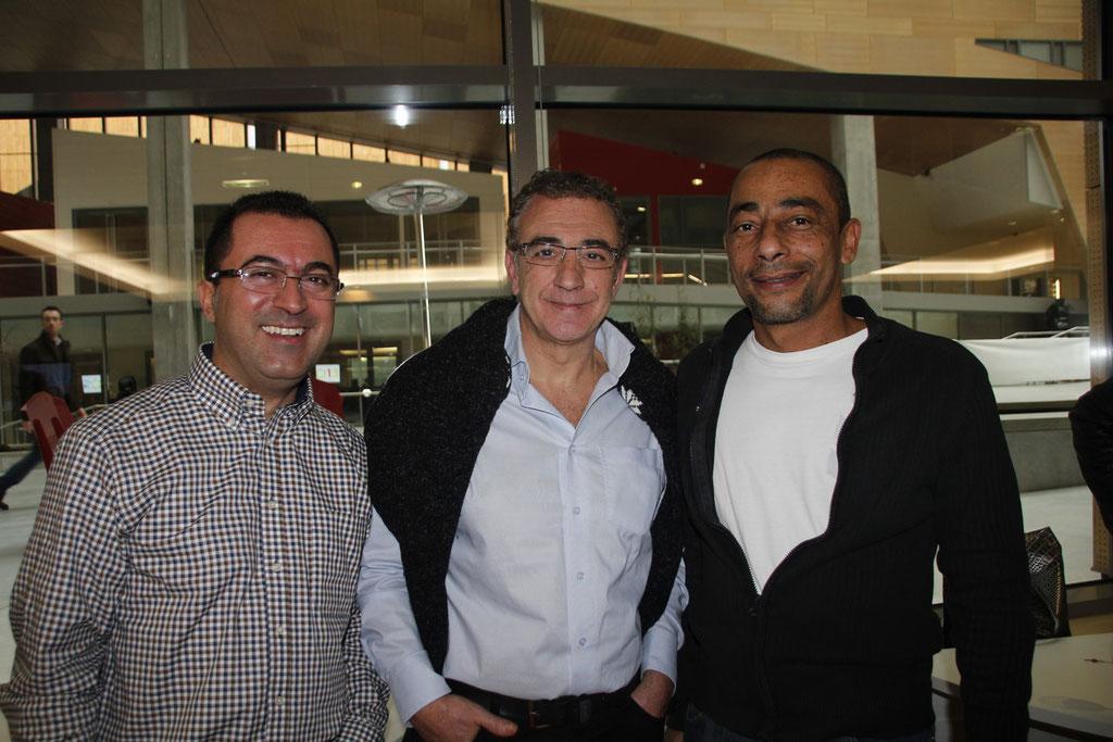 Azedine HAFFAR et 2 collègues © Anik COUBLE