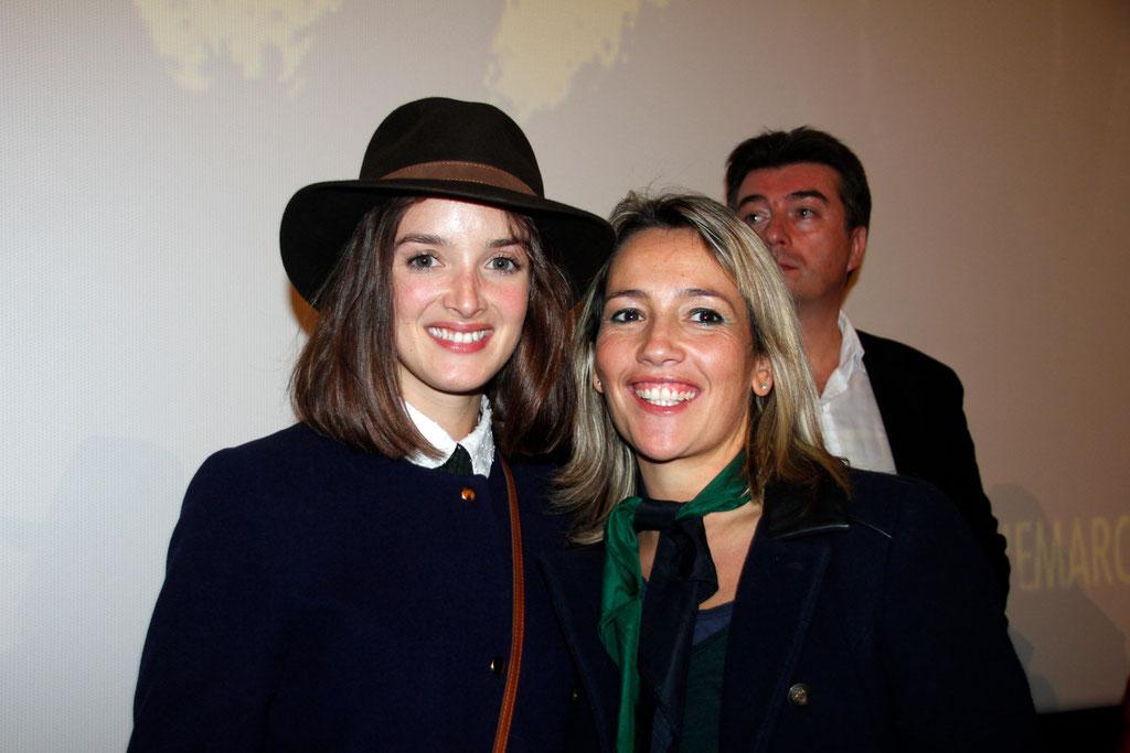 """Charlotte Le Bon et Soraya Benballa, lors de l'avant-Première du film """"La Marche""""  Lyon - 5 Novembre 2013 - Photo © Anik COUBLE"""