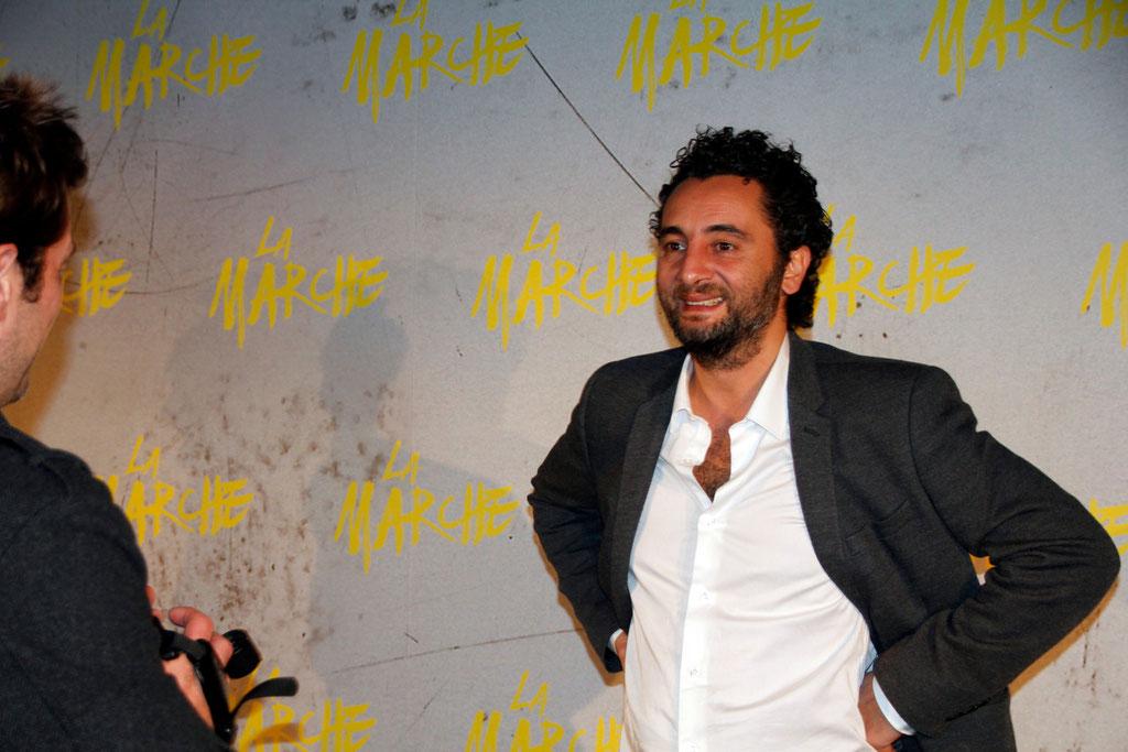 """Nader Boussandel, lors de l'avant-Première du film """"La Marche""""  Lyon - 5 Novembre 2013 - Photo © Anik COUBLE"""