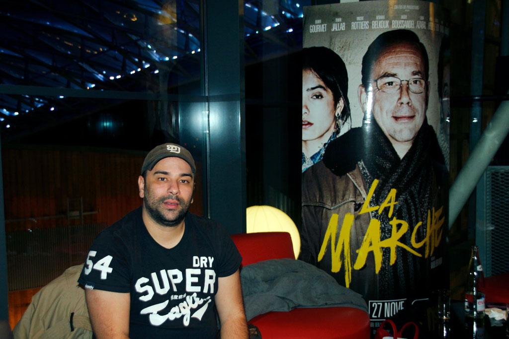 """Nabil Ben Yadir, réalisateur du film """"La Marche"""" lors de l'avant-Première à Lyon le 5 Novembre 2013 - Photo © Anik COUBLE"""